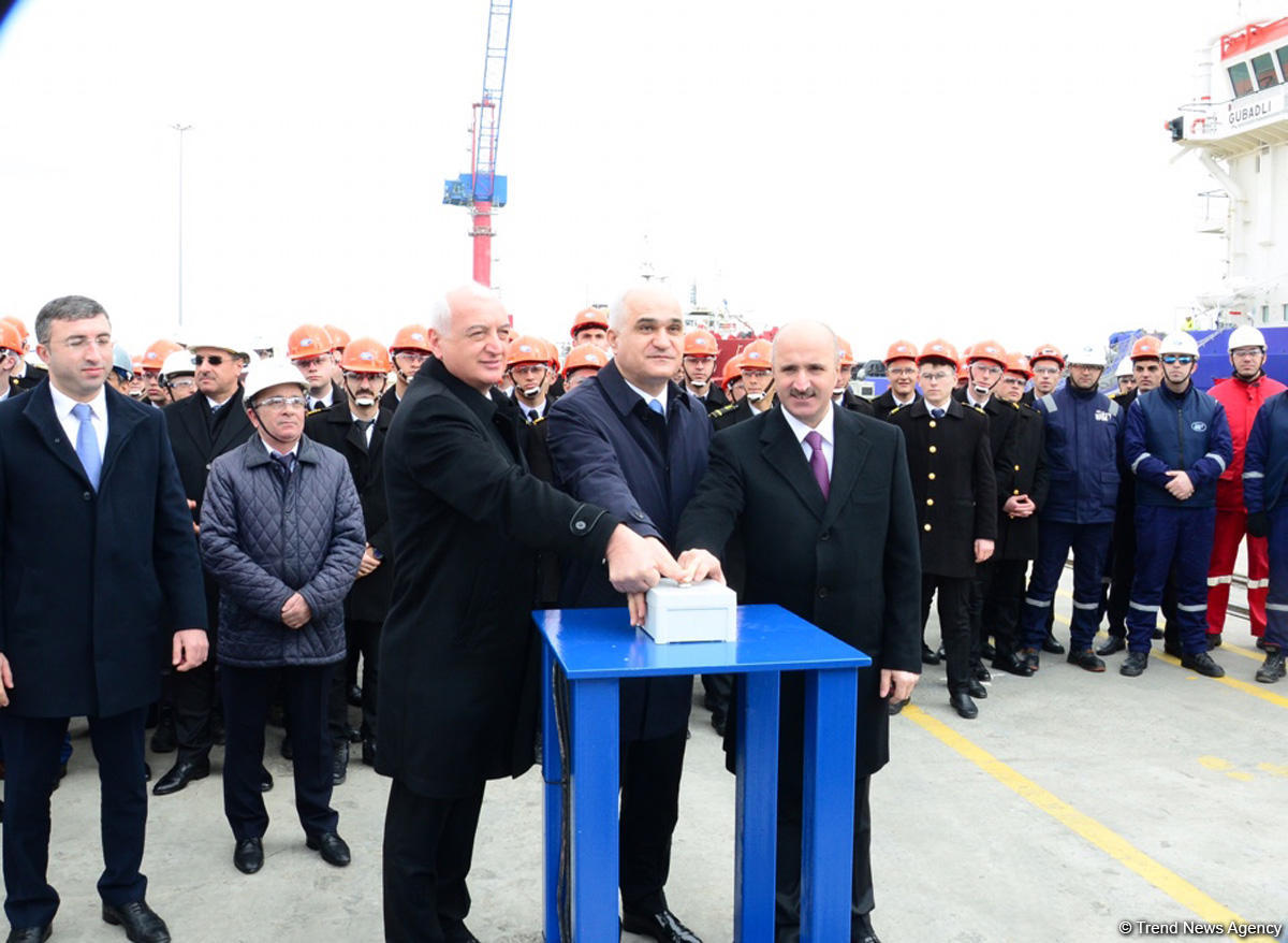 New oil tanker launched in Azerbaijan (PHOTO)