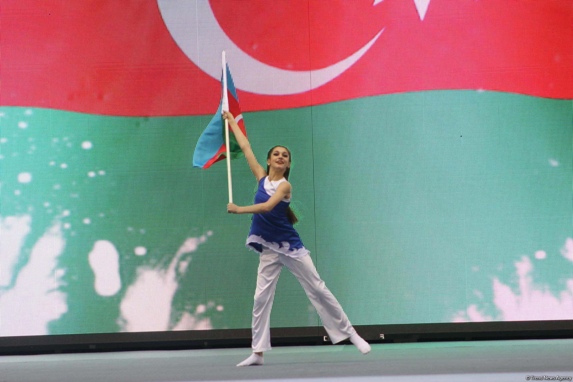 Opening ceremony of FIG Artistic Gymnastics Individual Apparatus World Cup held in Baku (PHOTO)