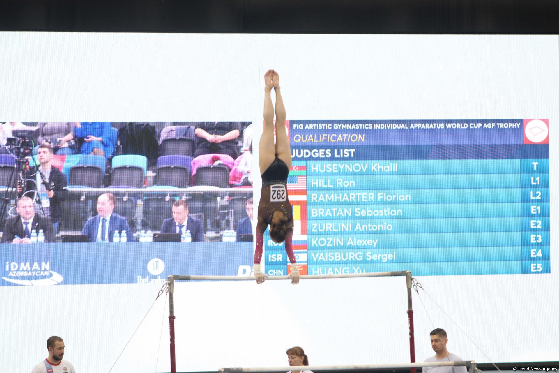First day of FIG Artistic Gymnastics Individual Apparatus World Cup kicks off in Baku (PHOTO)