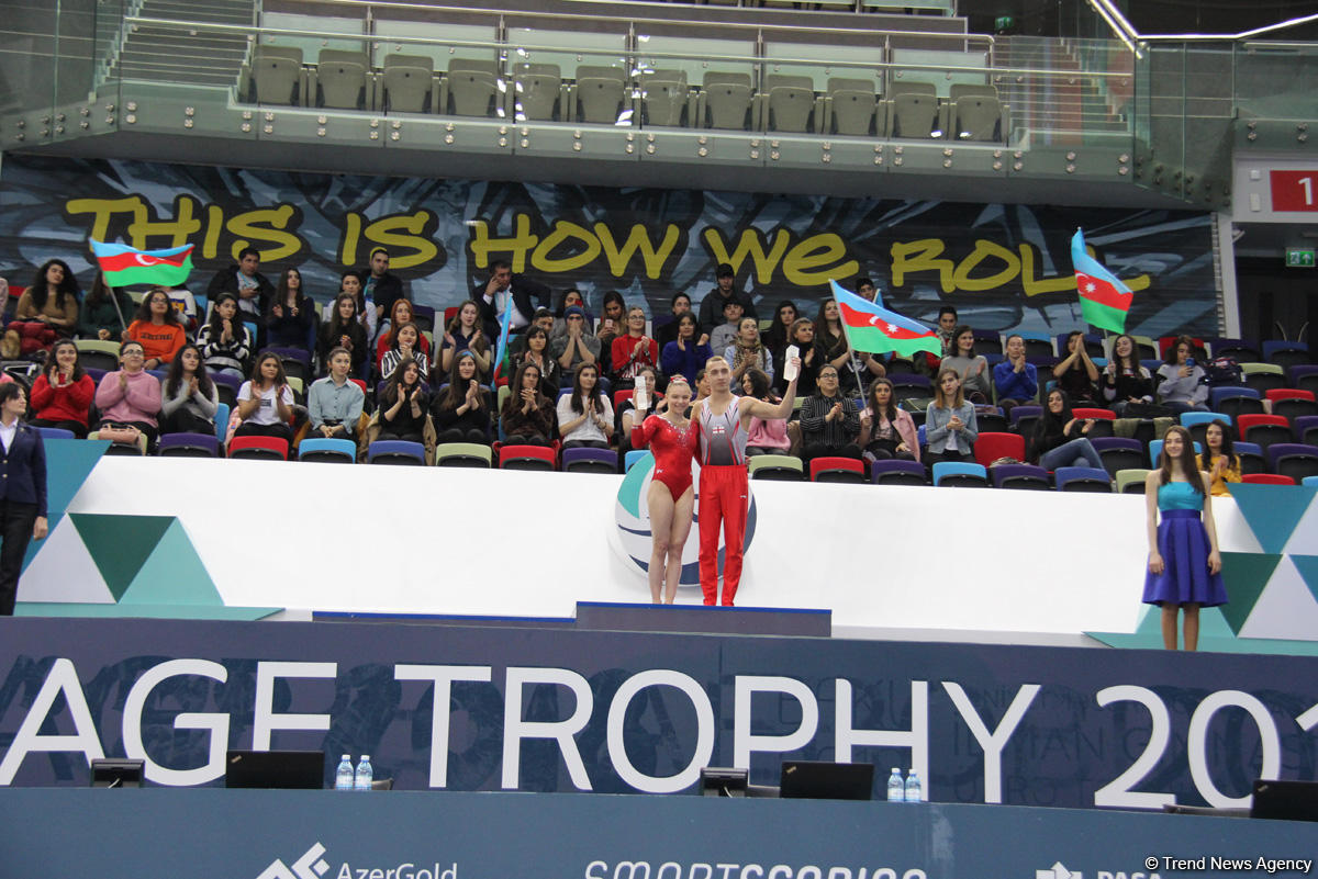 AGF Trophy awarded as part of FIG World Cup in Baku (PHOTO)