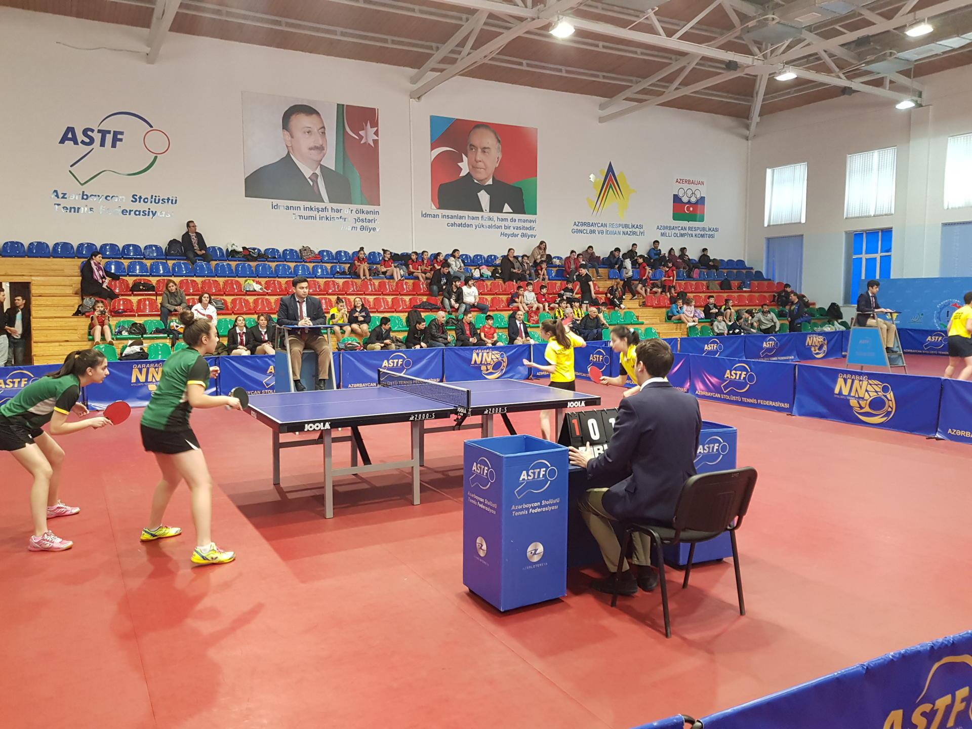 Stolüstü tennis üzrə azyaşlılar arasında Azərbaycan birinciliyinə yekun vurulub (FOTO)