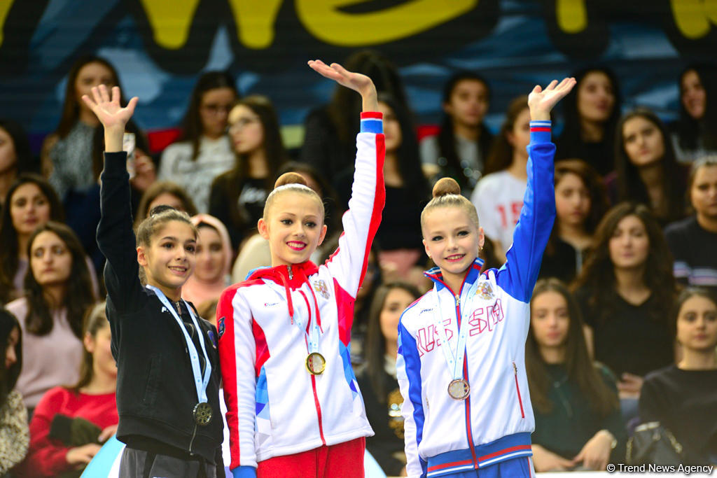 Award ceremony of AGF Junior Trophy in individual all-around held in Baku (PHOTO)