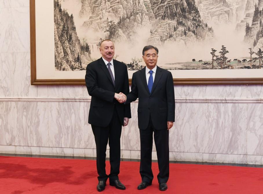 Президент Ильхам Алиев встретился в Пекине с членом Политбюро ЦК Компартии Китая (ФОТО)