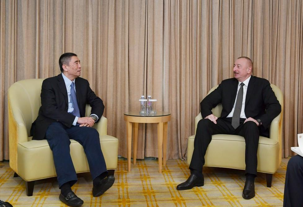 President Aliyev meets China Poly Group chairman in Beijing (PHOTO)