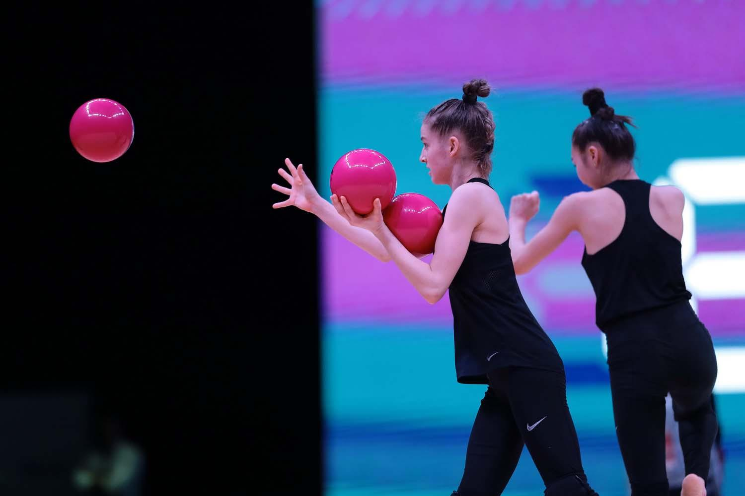 Podium training held in Baku for upcoming Rhythmic Gymnastics World Cup (PHOTO)