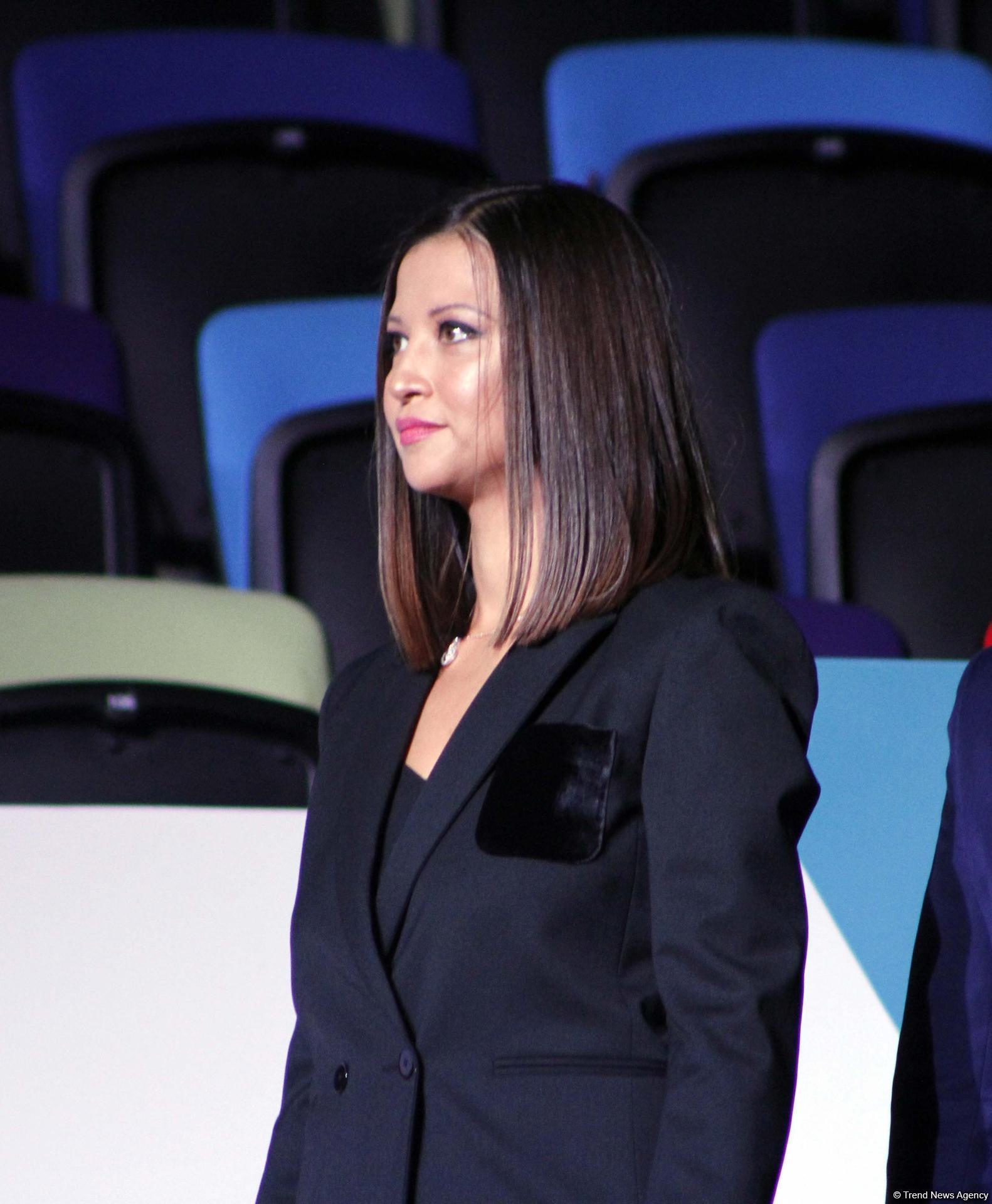 В Баку прошла церемония награждения призеров индивидуальных финалов Кубка мира по художественной гимнастике (ФОТО)