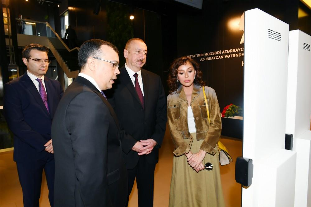 President Aliyev, First Lady Mehriban Aliyeva attend opening of administrative building of DOST Agency (PHOTO)