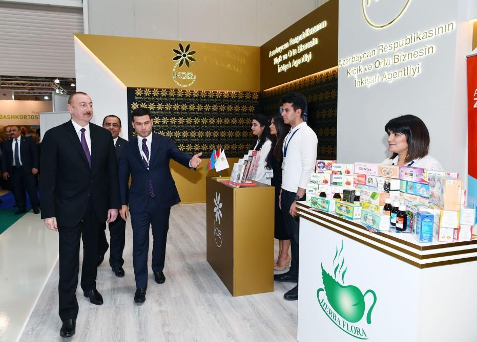 President Aliyev views 25th Azerbaijan International Food Industry and 13th Azerbaijan International Agriculture exhibitions (PHOTO)