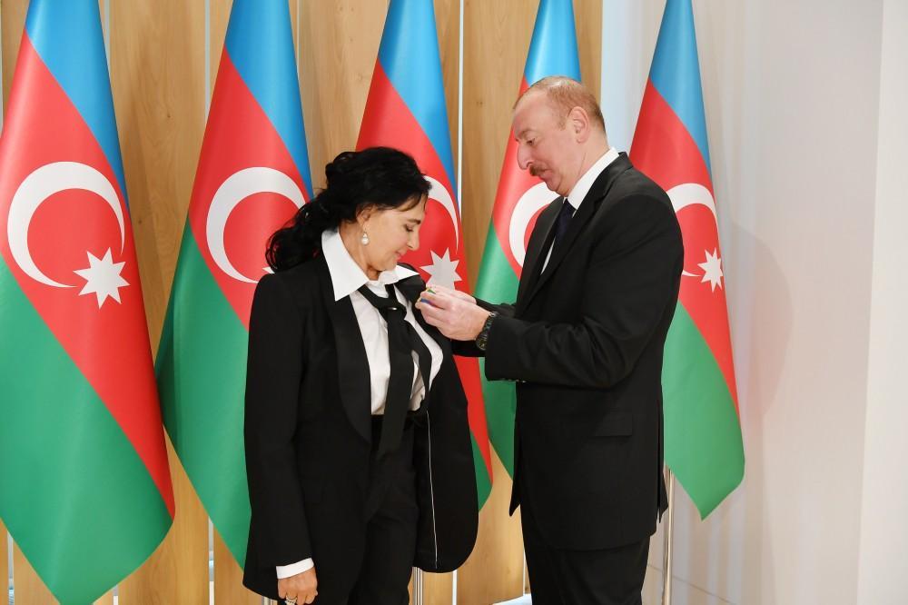 Azerbaijani president, first lady meet with president of Russian Rhythmic Gymnastics Federation (PHOTO)