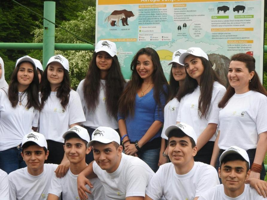 Heydar Aliyev Foundation VP attends event within 'Reintroduction of bisons in Azerbaijan' project (PHOTO)