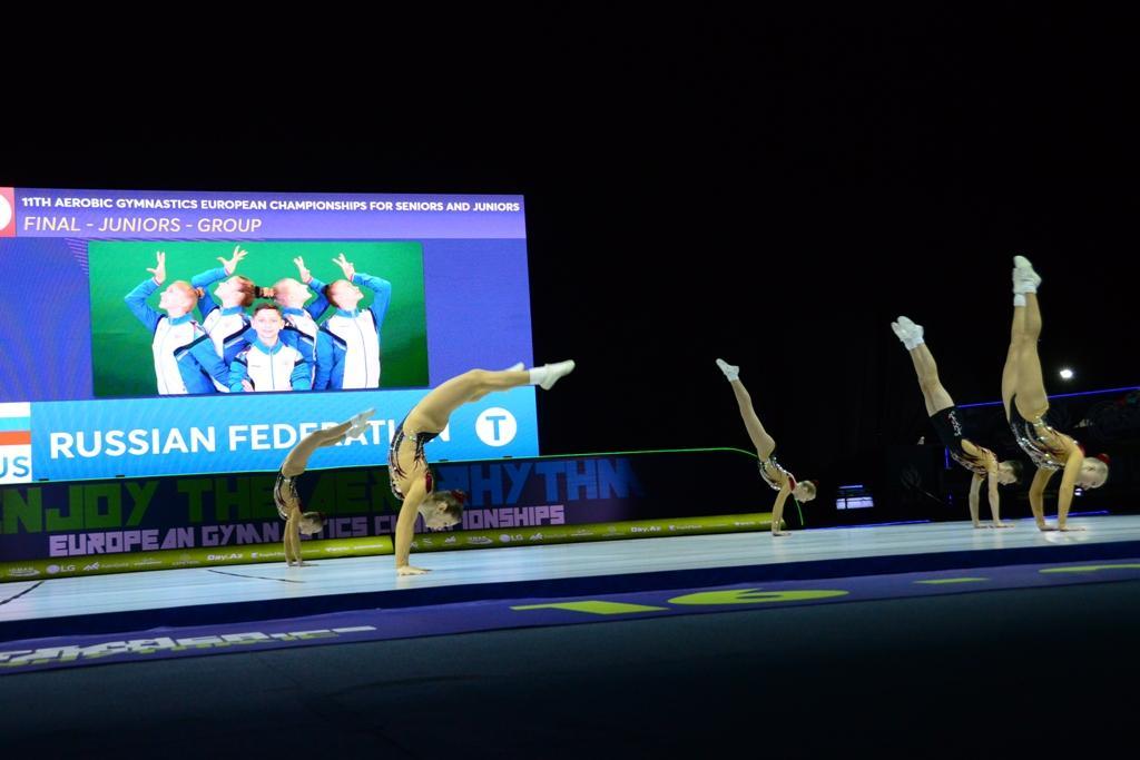 Bakıda aerobika gimnastikası üzrə 11-ci Avropa çempionatının final mərhələsi yarışları davam edir (FOTO)