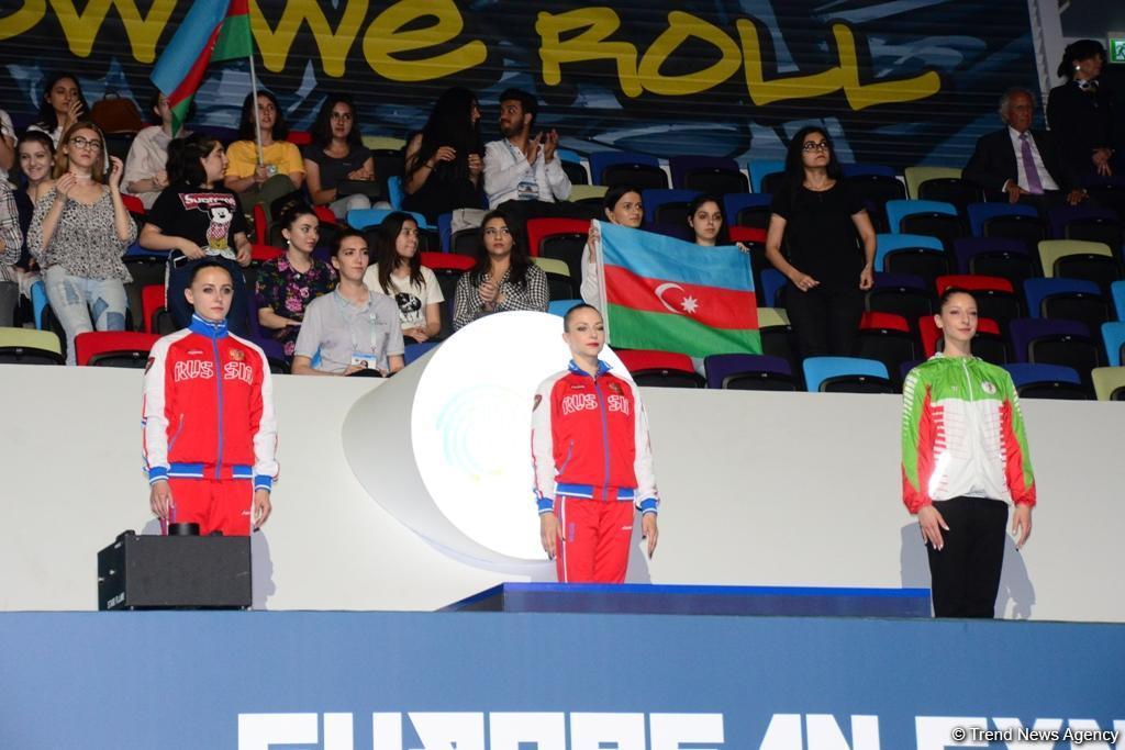 В Баку прошла церемония награждения победителей Чемпионата Европы в индивидуальной программе женщин и мужчин и смешанных пар (ФОТО)