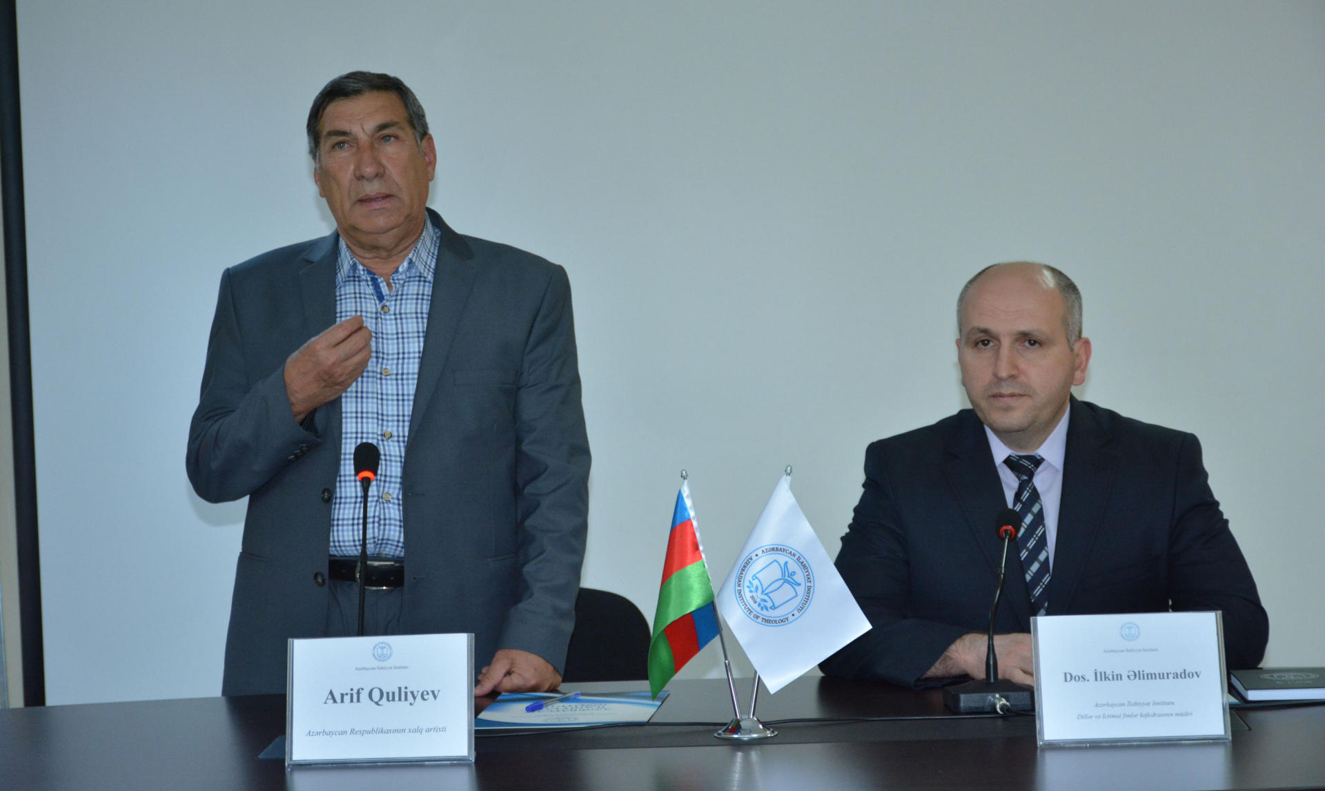 İlahiyyat İnstitutunda Xalq artisti Arif Quliyev ilə görüş keçirilib