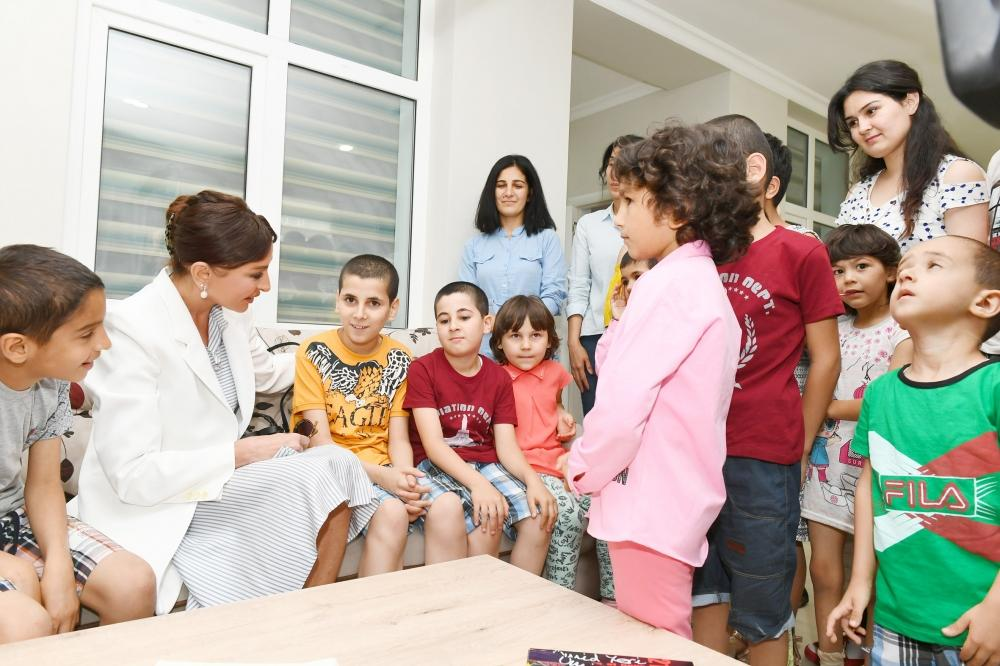 First Vice-President of Azerbaijan Mehriban Aliyeva attends opening of new building of children's shelter (PHOTO)