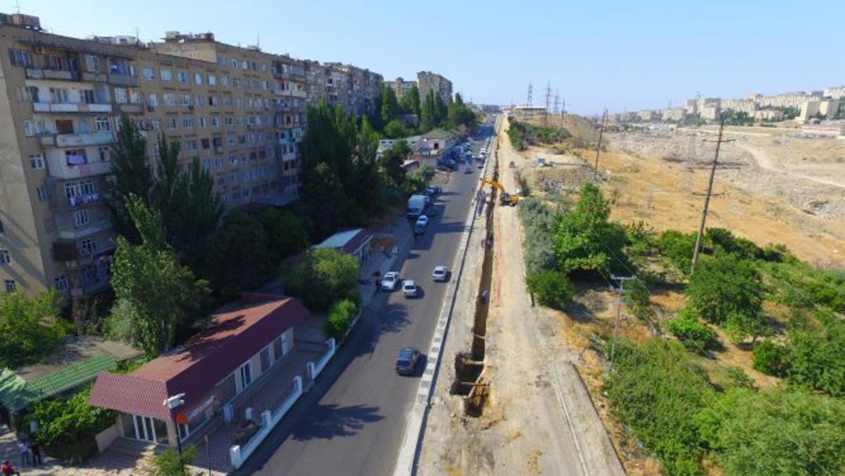 Xətai rayonunda su təchizatı sistemləri yenidən qurulur (FOTO)