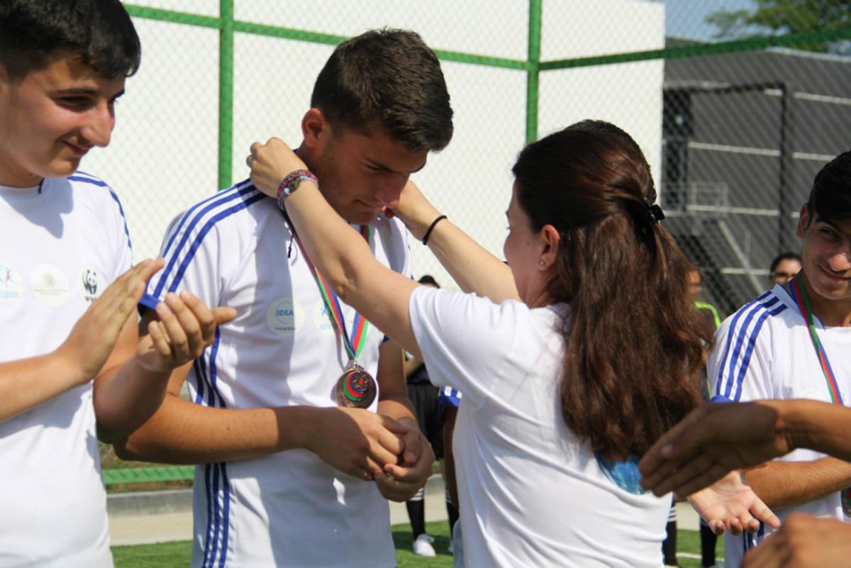 """""""Bəbirləri mühafizə edək!"""" düşərgəsi çərçivəsində futbol çempionatı təşkil edilib (FOTO)"""