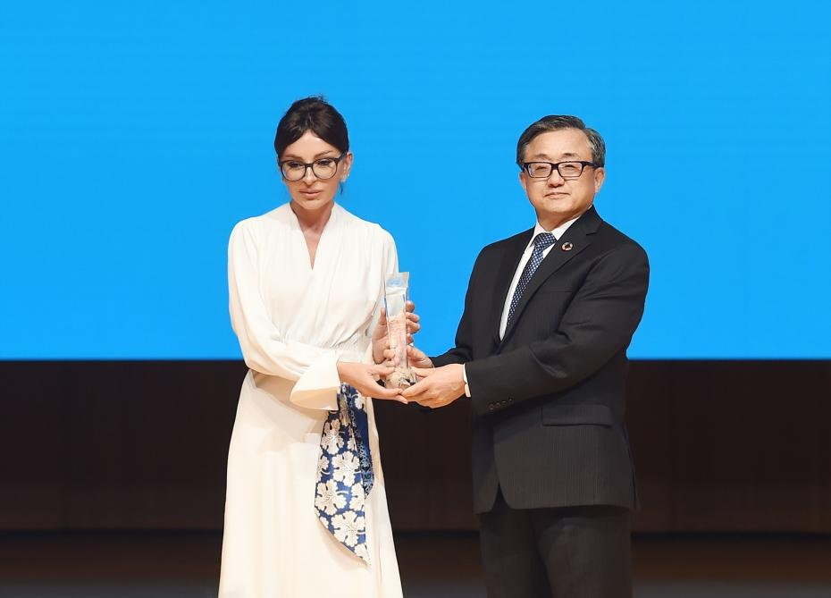 First Vice-President Mehriban Aliyeva awarded a special UN award (PHOTO)