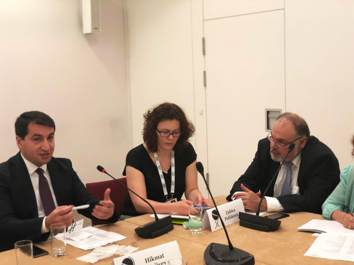 Hikmet Hajiyev talks about Azerbaijan's foreign policy priorities at Chatham House (PHOTO/VIDEO)