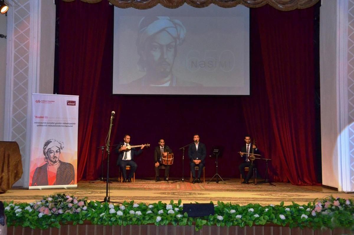 В Баку прошла церемония награждения победителей конкурса в честь Года Насими (ФОТО)