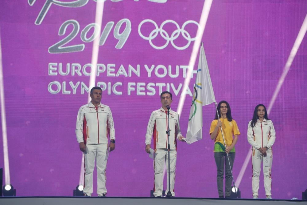 President Aliyev, First Lady Mehriban Aliyeva take part in solemn opening ceremony of 15th Summer European Youth Olympic Festival (PHOTO)