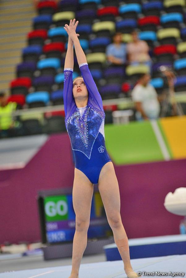 """""""EYOF Bakı 2019"""": Milli Gimnastika Arenasında idman gimnastikası üzrə yarışların 2-ci günü başlayıb (FOTO)"""