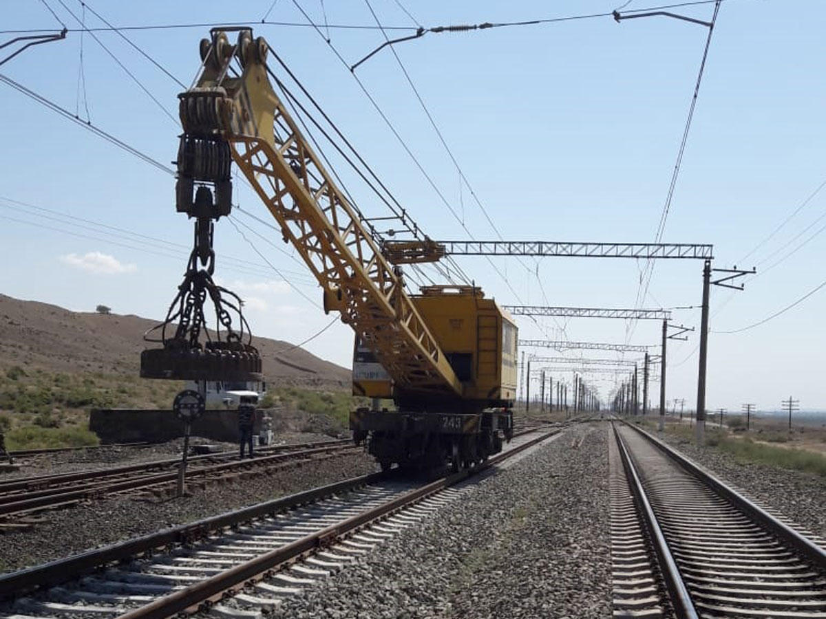 New railroad switches to be installed on Azerbaijan's Ganja-Boyuk Kasik railway line (PHOTO)
