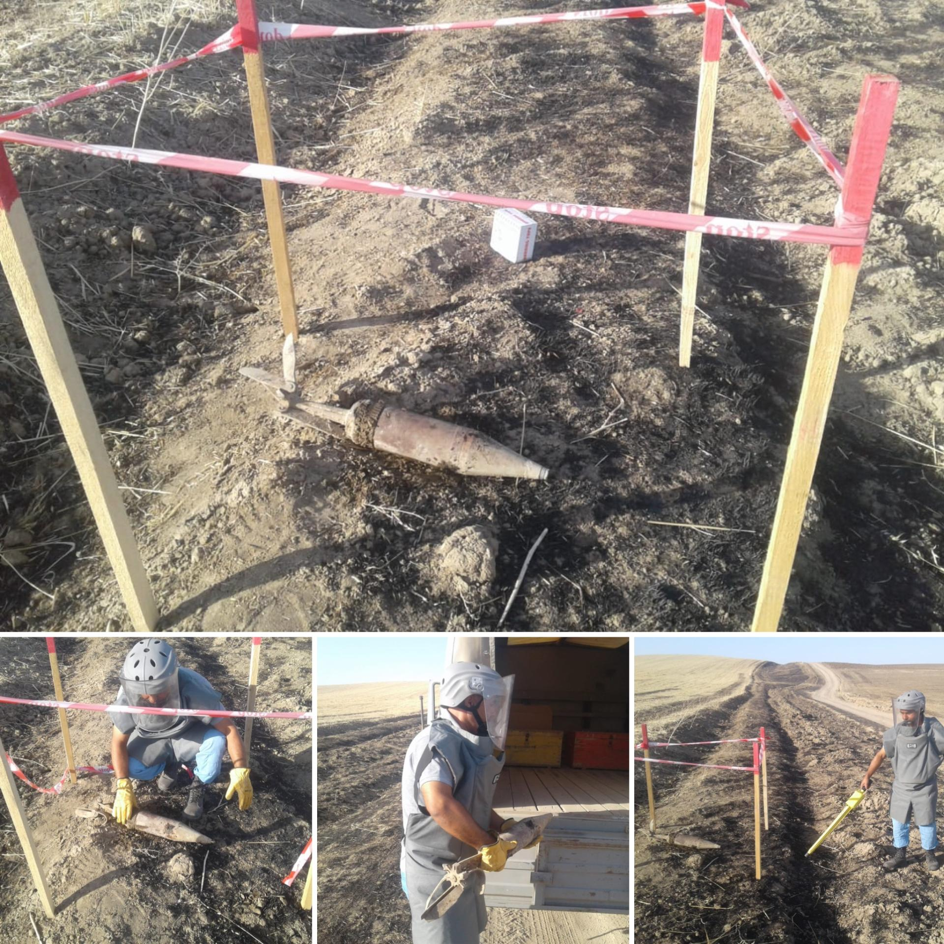 Unexploded cannon shell discovered in Azerbaijan's Fizuli district (PHOTO)