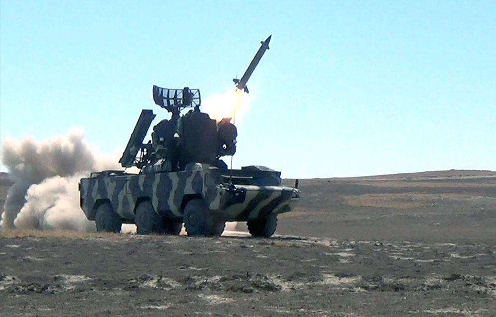 Combat firing carried out by air defense means of Azerbaijani Armed Forces (PHOTO/VIDEO)