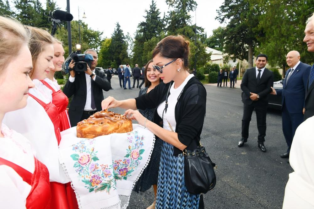 First Vice-President Mehriban Aliyeva attended inauguration of reconstructed Palace of Culture in Ivanovka village (PHOTO)