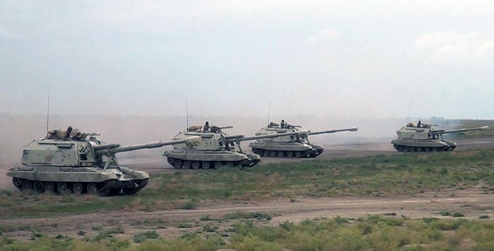 Azerbaijani troops involved in large-scale exercises occupy concentration areas (PHOTO/VIDEO)
