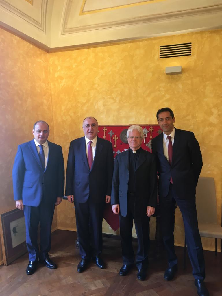 Azerbaijani FM meets rector of Pontifical Oriental Institute during his visit to Holy See (PHOTO)