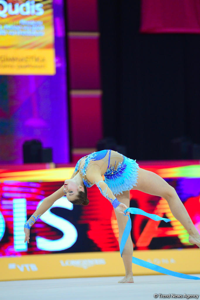 Veronika Hudis performs in 37th Rhythmic Gymnastics World Championships under composition of Muslim Magomayev (PHOTO/VIDEO)