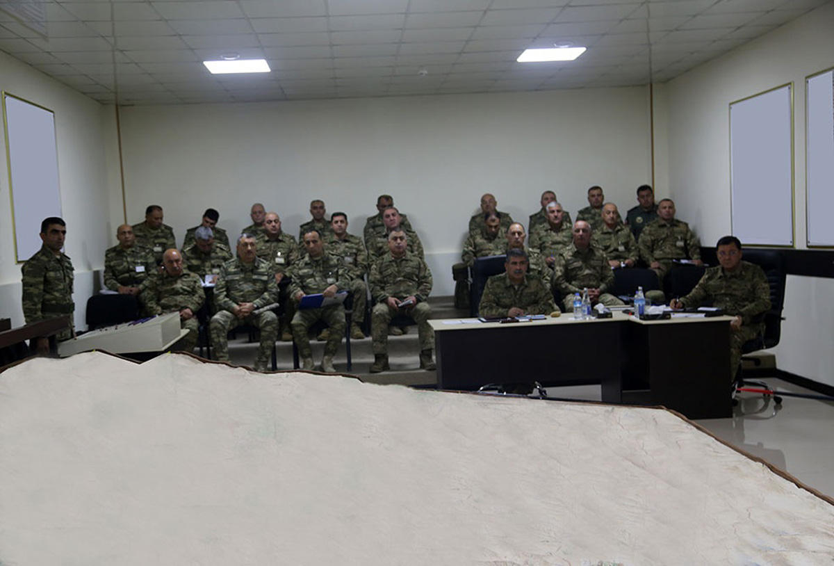 Participants of Azerbaijani army exercises worked out interaction of troops on terrain model board (PHOTO/VIDEO)
