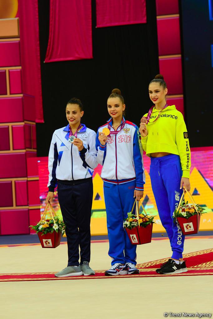Awarding ceremony of winners of 37th Rhythmic Gymnastics World Championships held in Baku (PHOTO)