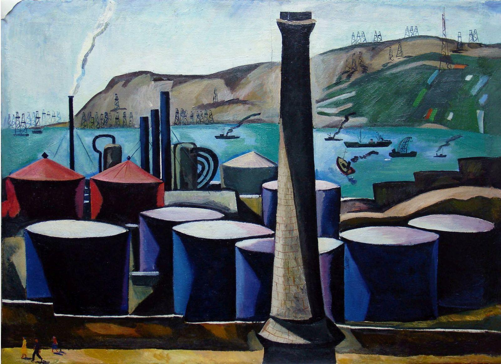 Нефть и нефтяники в живописи азербайджанских художников (ФОТО)