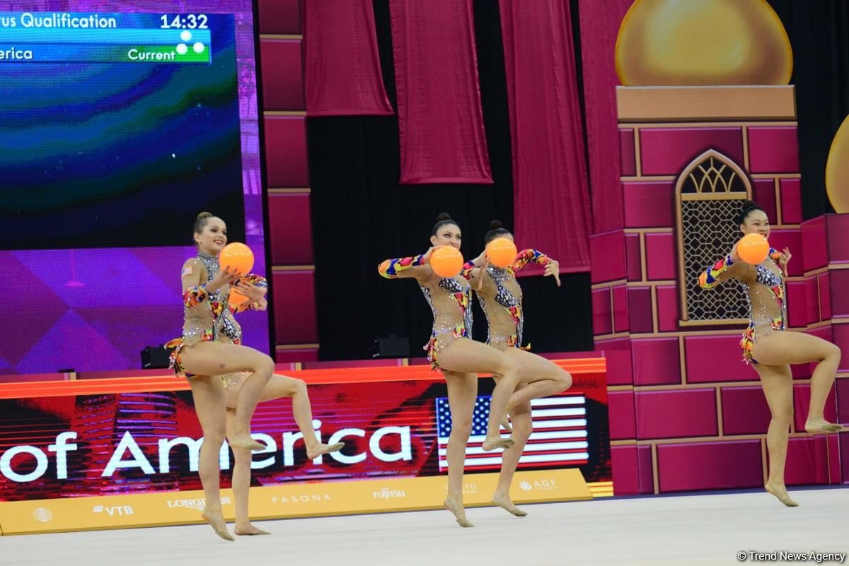Bakıda bədii gimnastika üzrə dünya çempionatının 6-cı günü start götürüb (FOTO)