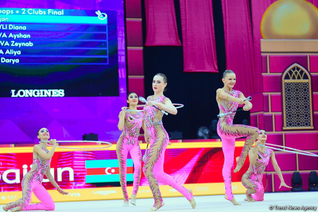 Лучшие моменты заключительного дня Чемпионата мира по художественной гимнастике в Баку (ФОТО)