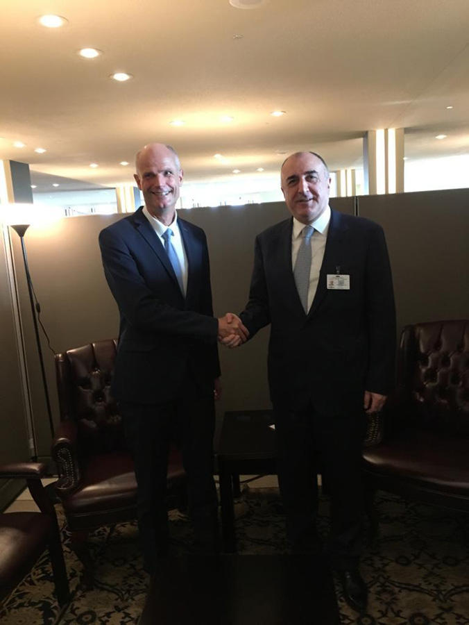 Azerbaijani FM meets with Netherlands' counterpart (PHOTO)