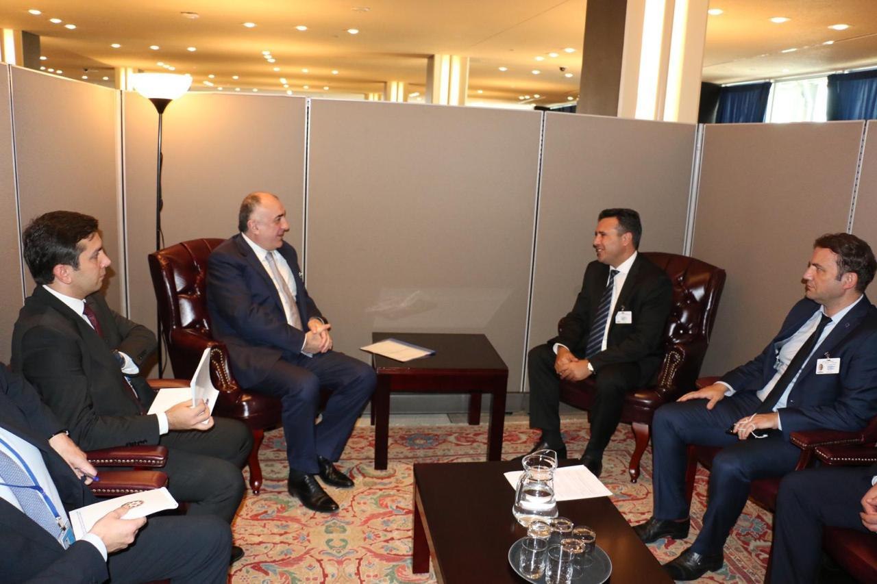 Elmar Mammadyarov meets with the PM of the Republic of North Macedonia (PHOTO)