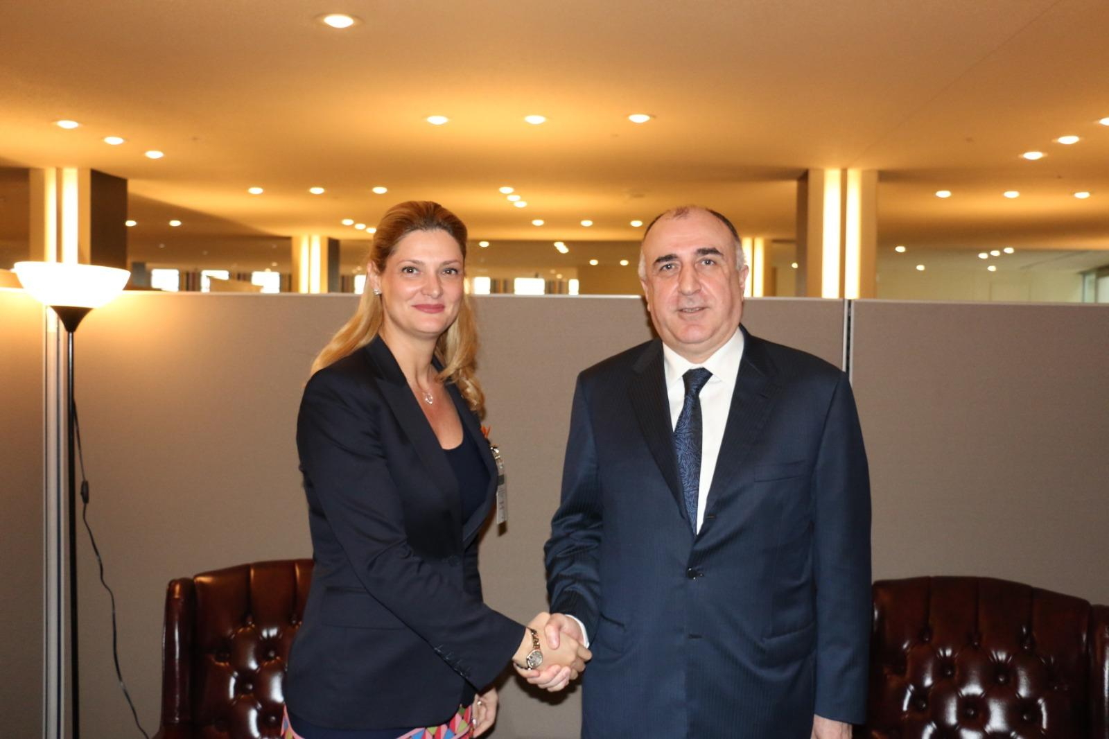 Azerbaijani FM meets with Minister of Foreign Affairs of Romania