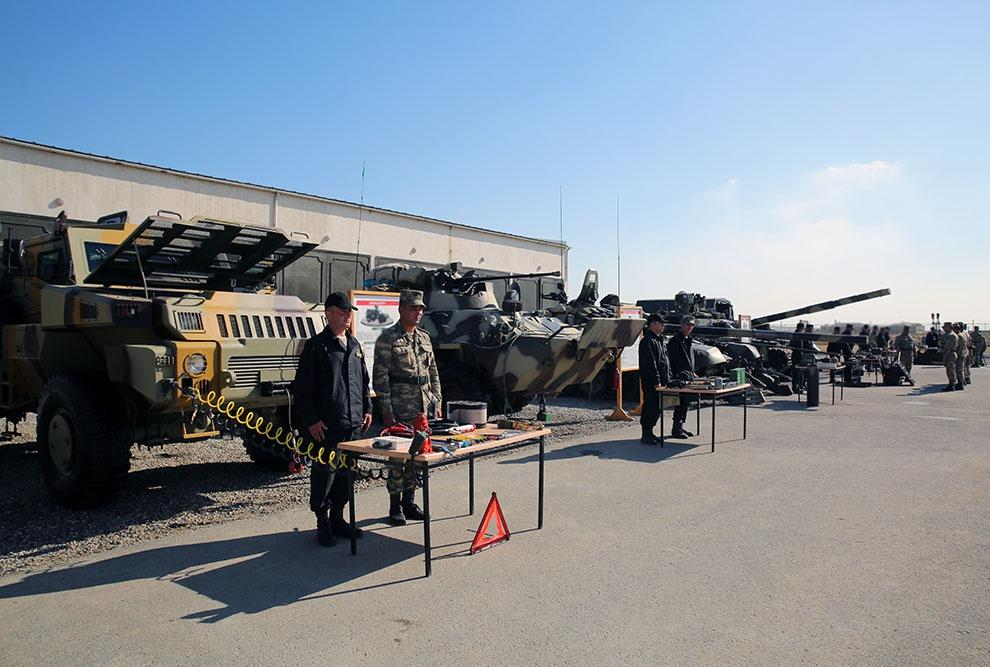 Weapons, military equipment of Azerbaijani army being transferred into winter mode (PHOTO/VIDEO)