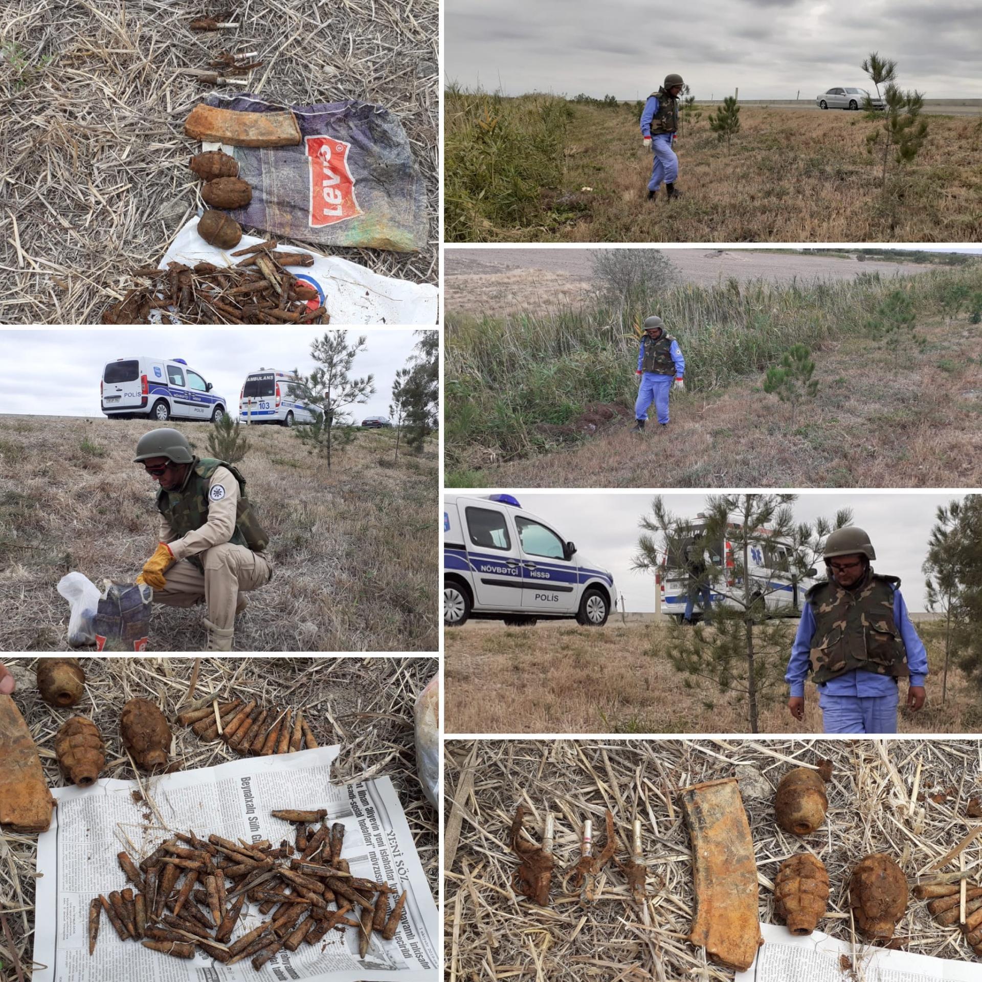 Ucarda kənd ərazisində silah-sursat tapılıb (FOTO)