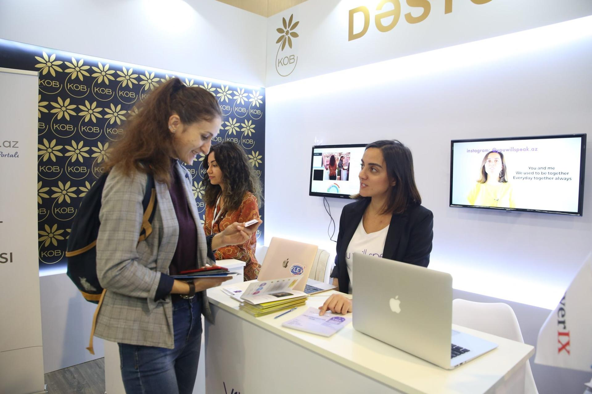 Entrepreneurs participating in Int'l Education Exhibition with Azerbaijan's SME Development Agency's support (PHOTO) (UPDATE)