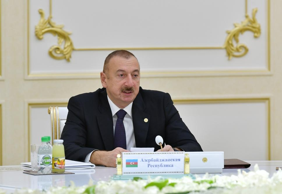 President Aliyev attends CIS Heads of State Council's session in limited format in Ashgabat (PHOTO)