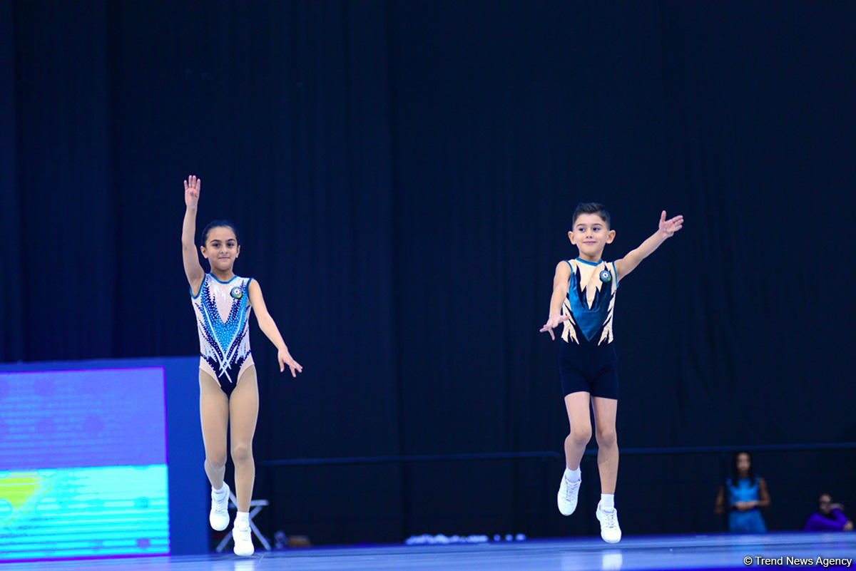 Rhythmic and aerobic gymnastics competitions underway at National Gymnastics Arena in Baku (PHOTO)