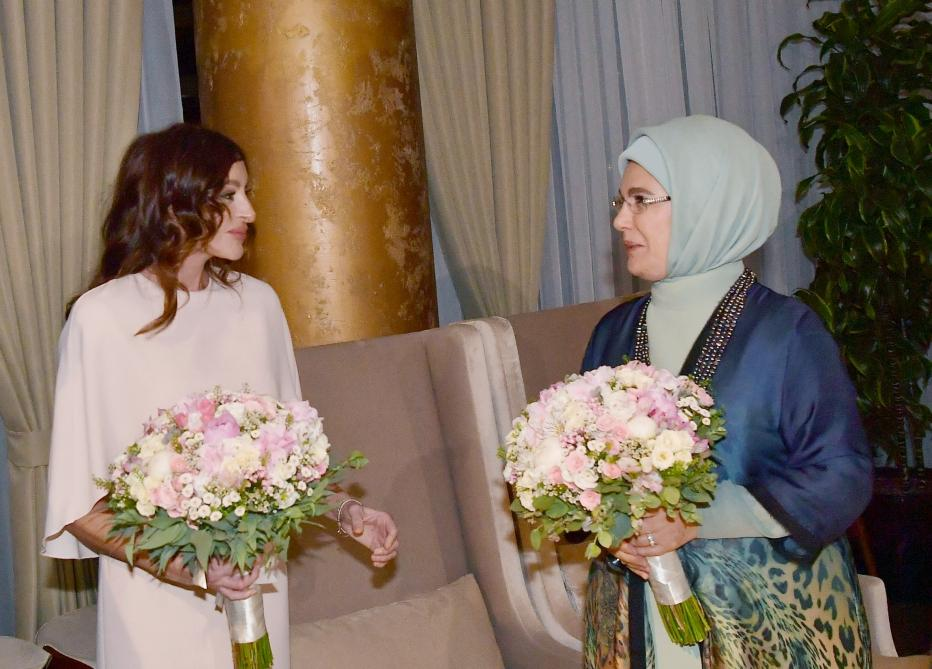 Azerbaijan's president, first lady have joint dinner with heads of state and government at 7th Summit of Turkic Council (PHOTO)
