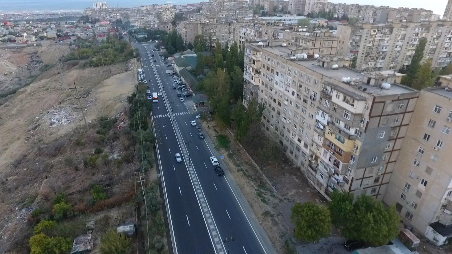Bakıda daha bir küçə yenidən qurulub (FOTO)