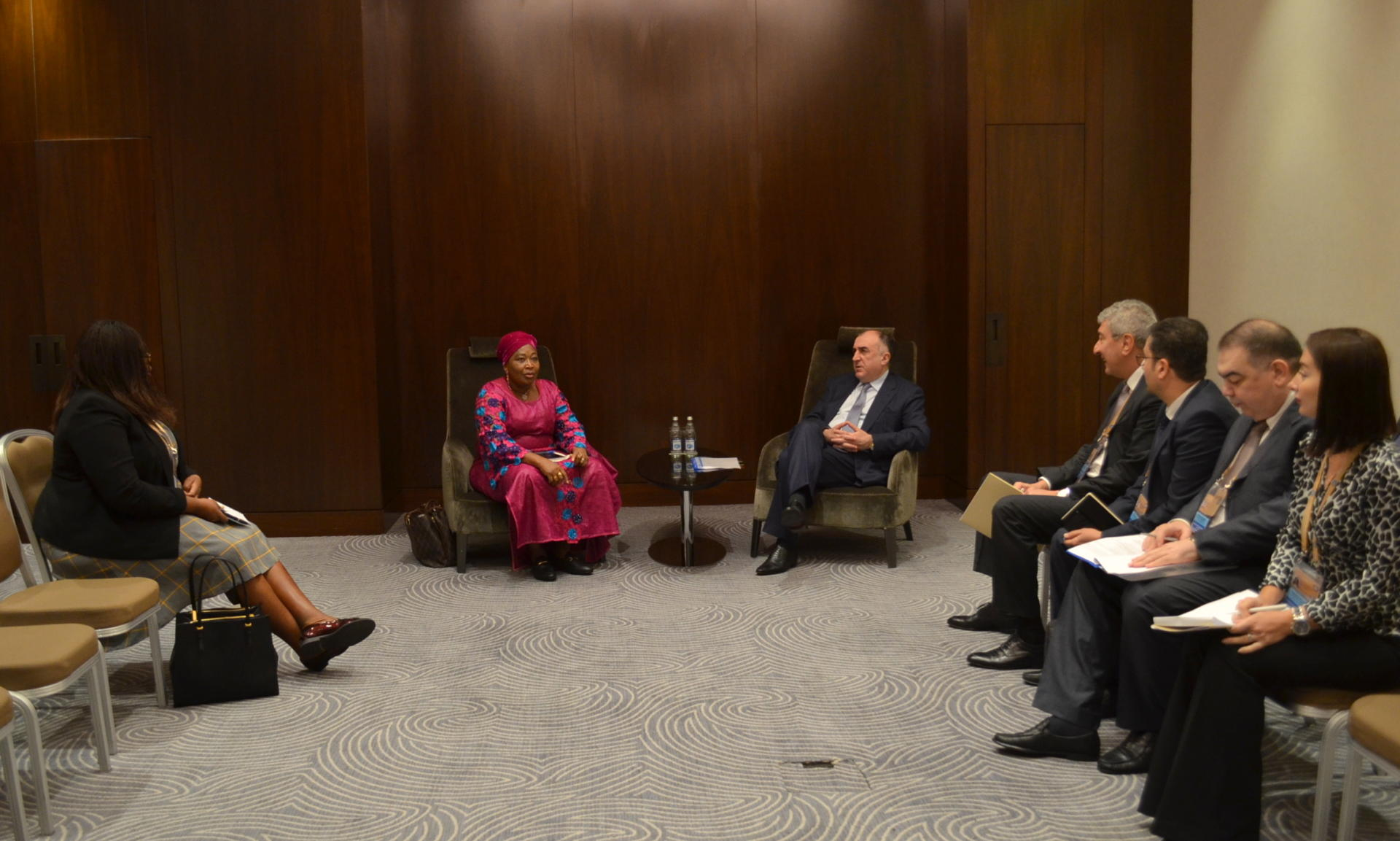 Azerbaijani FM meets commissioner for political affairs of African Union Commission (PHOTO)