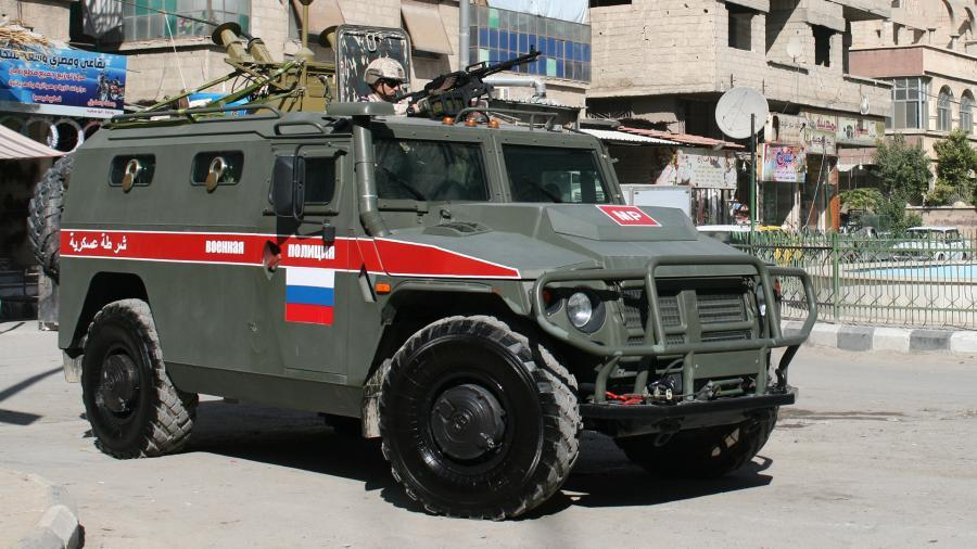 military police 271019 - Russian military police patrol Syria's Aleppo, Hasakah provinces