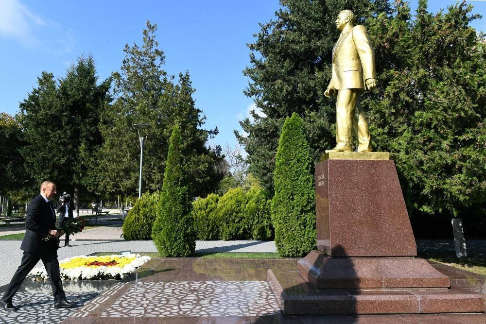 Azərbaycan Prezidenti İlham Əliyev Qəbələ rayonuna səfərə gəlib